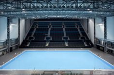 Interior of the temporary Water Polo Arena