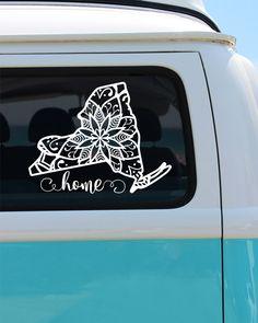 New York State Mandala Vinyl Decal Sticker - Car Sticker - Mandala Decal by…