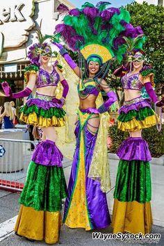Awesome Mardi Gras stilt costume Mardi Gras Outfits, Carnival Outfits, Mardi Gras Costumes, Carnival Costumes, Mardi Gras Beads, Mardi Gras Party, Stilt Costume, Cruise Party, New Orleans Mardi Gras