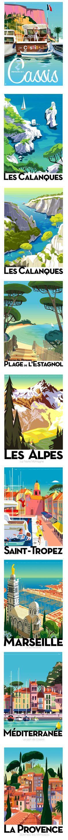 Cartes postales vintage - l'été en France ou ailleurs