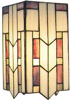 prairie style stained glass lamp