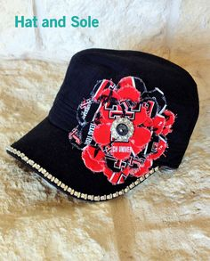 Womens Texas Tech Red Raider Frayed Flowers Cadet by HatandSole