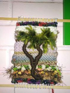 Mi primer árbol Fibre Art, Collages, Ladder Decor, Knots, Weaving, Drawings, Crafts, Home Decor, Tapestry Weaving