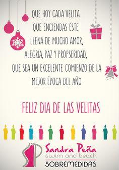 Sandra Peña les desea un feliz día de las velitas. #felizdiadevelitas #spswimwear #swimsuit #fashionwear #navidad