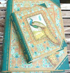 pUNCH sTUDIO Choice of Peacock Green Nesting Keepsake Book Boxes