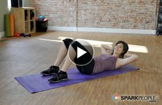 Sculpt your #abs in 15 minutes with this quick video routine! | via @SparkPeople #TeamSkinnyJeans #fitness  #workout