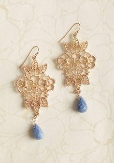 versailles floral earrings