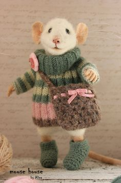 Mouse in Boots And Striped Sweater