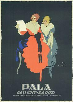By Jupp Wiertz (1888-1939), 1914, Pala Gaslicht-Papier. (G)