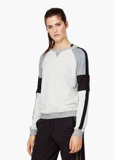 Yoga - relax-sweatshirt aus baumwolle -  Damen | MANGO