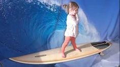 Surfing on a Green Screen Bunger Board #Greenscreen #Videoediting