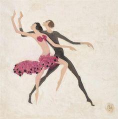 Flamenco - Constantin Piliuta Post Impressionism, Art Database, Disney Characters, Fictional Characters, Illustration, Artwork, Artist, Painting, People