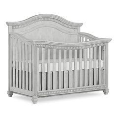 Evolur Madison 5 in 1 Curved Top Convertible Crib, Antique Grey Mist, Gray Grey Baby Cribs, Grey Crib, Baby Boy Rooms, Baby Cots, Grey Nursery Boy, Baby Bassinet, Baby Bedroom, Baby Room Decor, Nursery Decor