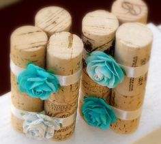 Wine Cork Place Card Holders.