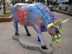 #Cow Parade - Guadalajara, Mexico A festival sponsered by the well know dairy company #Lala, placing different artists hand made and designed cows throuout the city, on walls and just about everywhere!  After a few weeks of observing them, they are auctioned off for #charity.