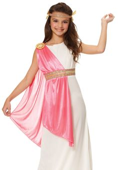 You'll be ancient royalty when you wear this ancient Roman empress girls costume. This ancient Roman empress girls costume is a great Roman costume for kids. Halloween Costume Accessories, Halloween Fancy Dress, Halloween Costumes For Girls, Costume Halloween, Girl Costumes, Roman Costumes, Greek Costumes, Costume Ideas, Spirit Halloween