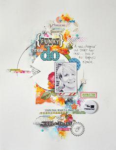 #papercraft #scrapbook #layout   Emma Trout: A Funky Do