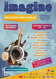 29 JUNE: Imagine Belgium - National Finals at Botanique and on live streaming!