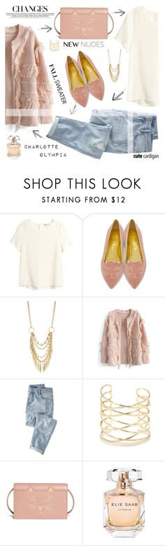 """My Favorite Cardigan"" by nata91 ❤ liked on Polyvore featuring H&M, Charlotte Olympia, Panacea, Chicwish, Wrap, Lulu*s, Elie Saab and mycardi"