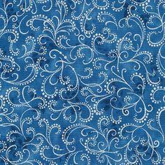 Fancy Silver Scrolll Blue Metallic Winter's Grandeur 5