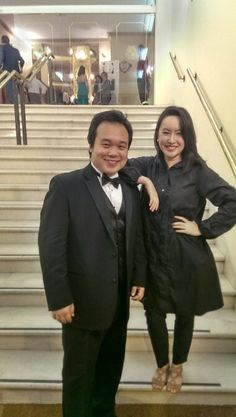 Waiting with Ao Li (winner) for the final announcement of winners for the 2013 Placido Domingos Operalia.