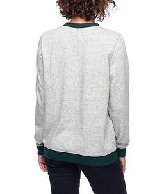 Empyre Bryce Adventure Green & Grey Crew Neck Sweatshirt