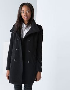 Bershka double-breasted coat