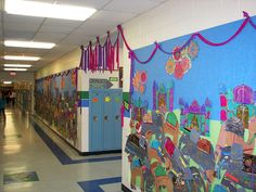 Indian elephant bulletin board; Hundertwasser + Indian Elephants? Indian Elephant, Elephant Art, Culture Day, India Culture, Summer Camp Themes, Art Bulletin Boards, Around The World Theme, Library Themes, Animal Art Projects