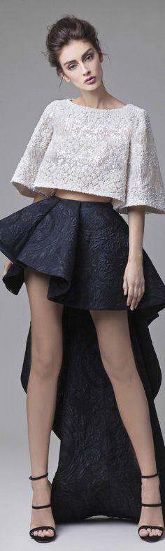 Krikor Jabotian couture 2016 spring summer #jacquards #babados #assimetrycskirt #modafesta #coolstyle #FocusTêxtil