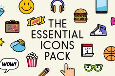The Essential Icons Pack #vector #icons