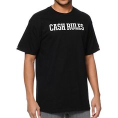 Cash is king and nothing else really matters because the Crooks & Castles X Monopoly black tee shirt will have you collecting money with each roll of the dice. On the back, the Monopoly man is kicking back, making it rain.  ~~ thepromenadebolingbrook.com