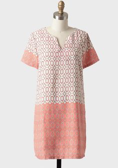 patterned shift dress via ShopRuche