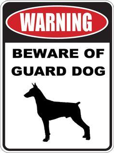 Beware of  Guard doberman pinscher dog warning by beachgraphicpros, $15.99
