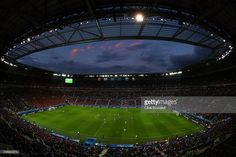 A general view during the UEFA EURO 2016 Group E match between Belgium and Italy at Stade des Lumieres on June 13, 2016 in Lyon, France.