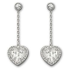 Swarovski Jewelry : Sybil Heart Pierced Earrings $100.00