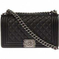 b2fe90e48295 Chanel Boy Quilted Black Flap Bag ( 3