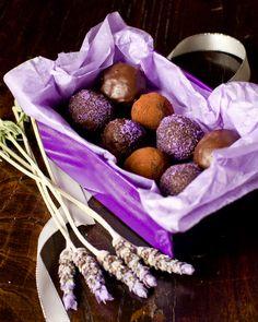 Dark Chocolate, Honey & Lavender Truffles