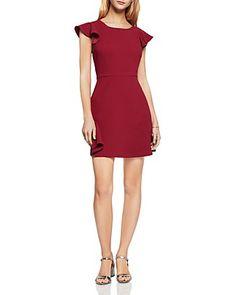 BCBGeneration Ruffle V-Back Dress | Bloomingdale's