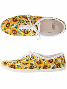 American Apparel - Printed Unisex Tennis Shoe. I need to buy these!