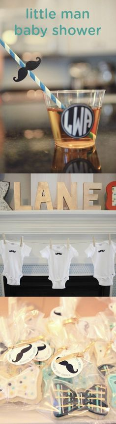 Celebrate the new little man in your friend's life with these adorable and classic baby shower ideas. From party food and favor ideas like bow tie cookies and darling mustache baby jumpers—you may find all the baby shower decoration inspiration you've been looking for!