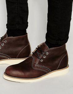 Lækre Red Wing Chukka Boots - Brown Red Wing Lace Up Støvler til Herrer til hverdag og fest