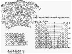 crochet fabric , CROCHET - GANCHILLO - PATRONES - GRAFICOS: REMERA CON CANESU REDONDO TEJIDO A GANCHILLO