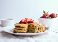 Lemon Poppy Seed Pancakes... Naturally gluten free, chickpea flour (garbanzo bean flour) makes for a perfect pancake! Created especially for the USA Dry Pea and Lentil Council is this amazingly delicious breakfast/brunch idea!