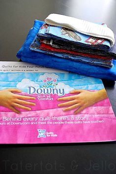 "Downy ""Touch of Comfort"" project delivers donated quilts to children in the hospital.  Downy will even send you a free quilt kit that includes a label, a link from you to the child you've helped comfort."