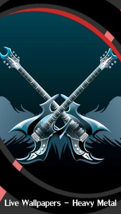 Cool Live Wallpapers, New Live Wallpaper, Skull Wallpaper, Metallic Wallpaper, Music Wallpaper, Wallpaper Pictures, Heavy Metal Guitar, Heavy Metal Art, Cool Pictures