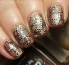 Stamper marbling with A England Sparks Divine and Picture Polish Demeter