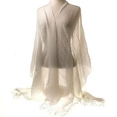 Cover up from a summer breeze while staying cool and elegant in this Gauze Fringe Wrap from Cracker Barrel. It layers beautifully over work attire or casual outfits.