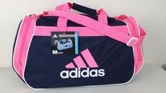NWT ADIDAS Diablo Medium II Duffel Black/Pink Sports Gym Bag Carry On Luggage #adidas #DuffleGymBag #ebay #adidas #DuffleGymBag #Medium