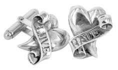 Love/Hate cufflinks in sterling silver - $270