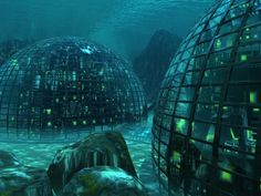 What Will the Underwater City of the Future Look Like?You can find Future city and more on our website.What Will the Underwater City of the Future Look Like? Under The Water, Under The Sea, Futuristic City, Futuristic Architecture, City Architecture, 3d Fantasy, Fantasy World, Atlantis, Underwater City
